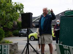 Parksville residents rally in opposition to proposed aquatic and recreation centre site