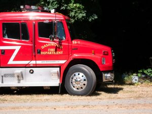 Three fire departments respond to early morning RV fire near Qualicum Beach